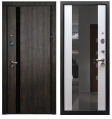 Входная дверь Премьер Тиковое  дерево Зеркало